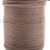 1mm Brown Waxed Cotton Cord 25m/spool