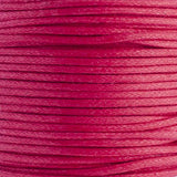 1mm Neon Pink Waxed Cotton Cord 25m/spool