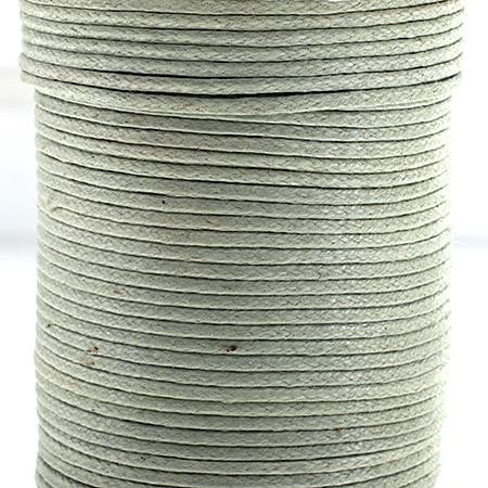 1mm Seafoam Waxed Cotton Cord 25m/spool