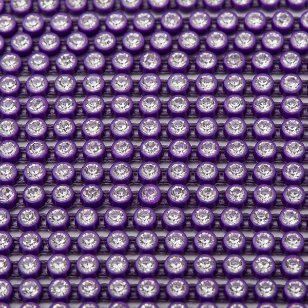 Plastic 2.4mm Purple Rhinestone Banding by the Yard