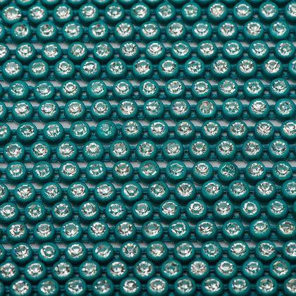 Plastic 2.4mm Turquoise Rhinestone Banding by the Yard