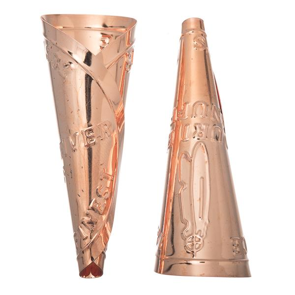 Copper Missouri River Jingle Cones, Adult Size 100/pk
