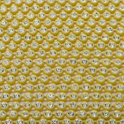 Plastic 2.4mm Yellow Rhinestone Banding by the Yard