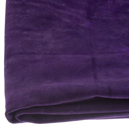 Purple Cowhide Suede by the Square Foot