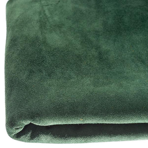 Emerald Cowhide Suede by the Square Foot