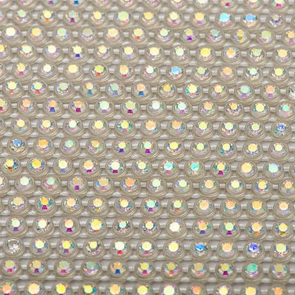 Plastic 2.4mm Crystal AB Rhinestone Banding by the Yard