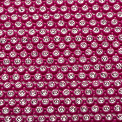 Plastic 2.4mm Fuchsia Rhinestone Banding by the Yard
