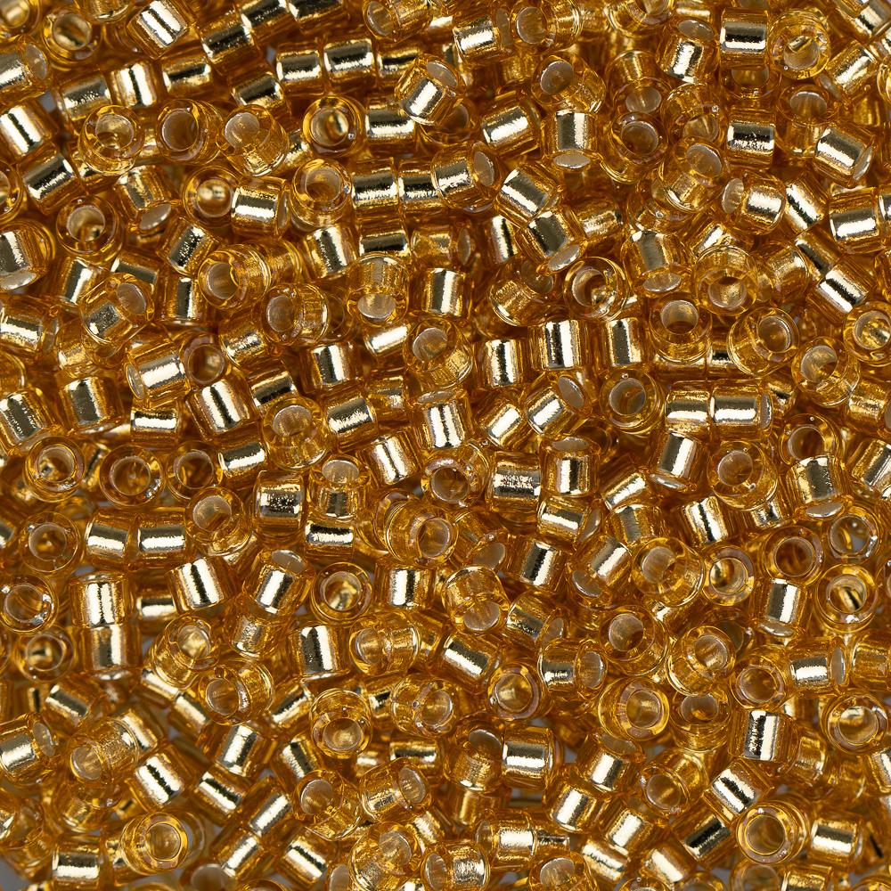 11/0 Delica Bead #0042 Silver Lined Gold 50g Bag