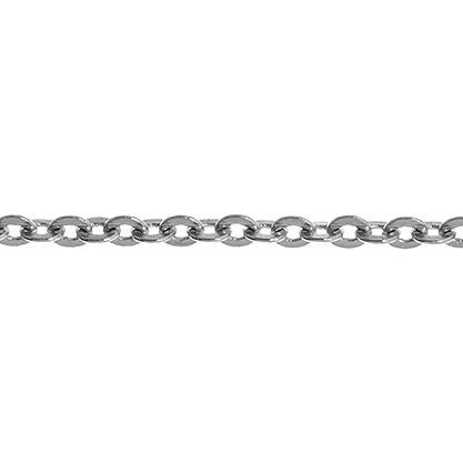2x2.5mm Rhodium Rolo Chain 1m