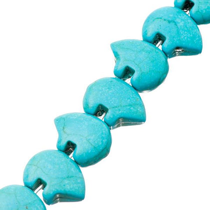 13x18mm Turquoise Blue Zuni Bear Beads 31/Strand
