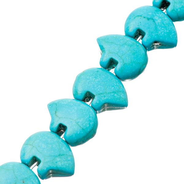 16x22mm Turquoise Blue Zuni Bear (Synthetic) Beads 25/Strand