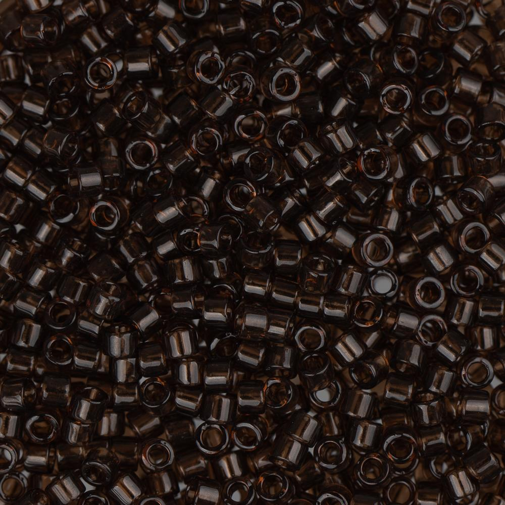 11/0 Delica Bead #0715 Transparent Chocolate Brown 5.2g