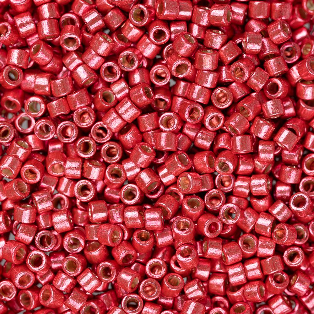 11/0 Delica Bead #1841 Duracoat Galvanized Light Cranberry 5.2g