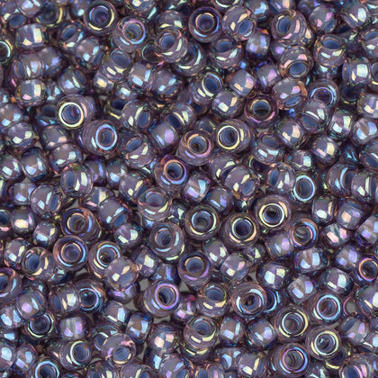 11/0 Japanese Seed Beads Light Amethyst Lined AB 22g