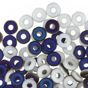 Czech O Beads 8.1g Chalk White Azuro Matte