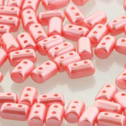 Czech Rulla Beads Coral Pastel 22g