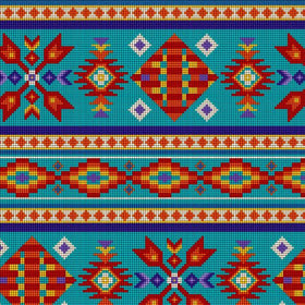Beaded Navaho Turquoise - Price Per Yard
