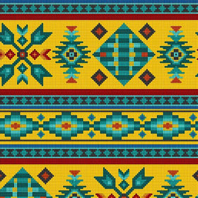 Beaded Navaho Gold - Price Per Yard