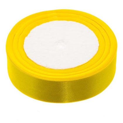 25mm Satin Ribbon Yellow 25yd