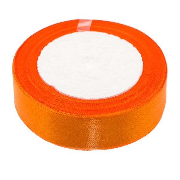 25mm Satin Ribbon Orange 25yd