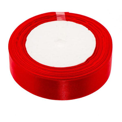 25mm Satin Ribbon Red 25yd