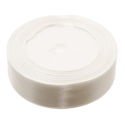 25mm Satin Ribbon White 25yd