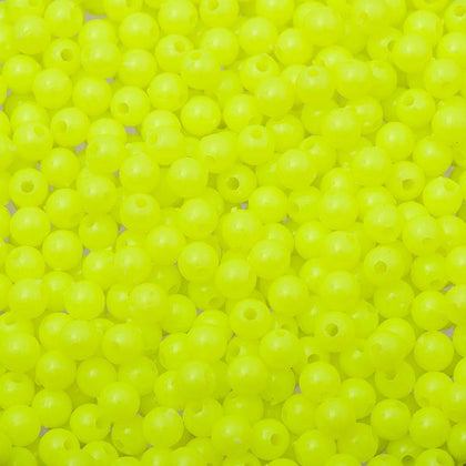 5mm Round Plastic Beads 5000/pk Fluorescent Chartreuse