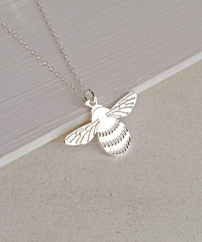 Cassiopi Silver Bee Necklace