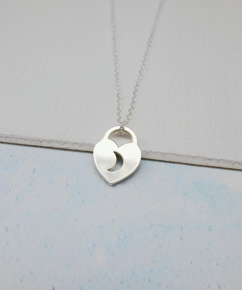 Love Lock Heart Necklace Front On