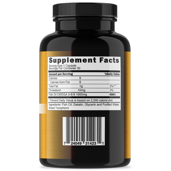 Pure Omega 3 Fish Oil-1000mg