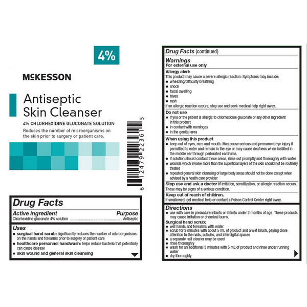 McKesson - Antiseptic Skin Cleanser 4 oz. Flip-Top Bottle