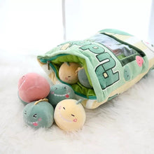 Load image into Gallery viewer, UwU Dino Pudding Bag Plush