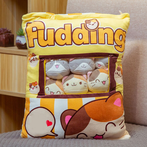 UwU Kitty Kats Pudding Bag Plush (=^-ω-^=)