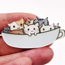 Load image into Gallery viewer, UwU Cat Cat Cat Pin