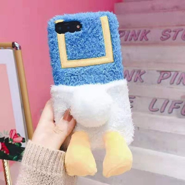 UwU Fluffy Ducky iPhone Case