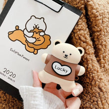 Load image into Gallery viewer, UwU Lucky Love Bears Airpod Case