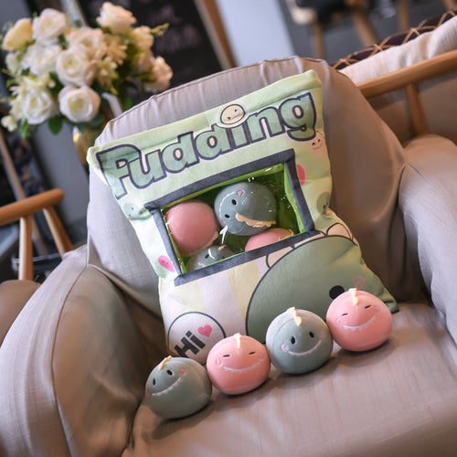 UwU Dino Pudding Bag Plush