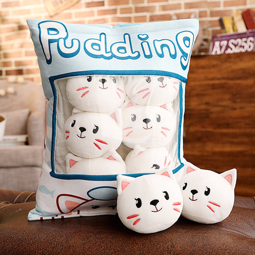 UwU Cat Pudding Bag Plush (=^・ェ・^=))ノ彡☆