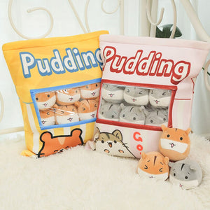UwU Gerbil Grey Pudding Bag Plush ( •̀ ω•́ )