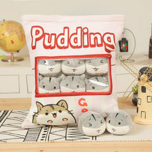 Load image into Gallery viewer, UwU Gerbil Grey Pudding Bag Plush ( •̀ ω•́ )