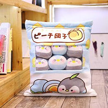 Load image into Gallery viewer, UwU Penguin Pudding Bag Plush (`・⊝・´)