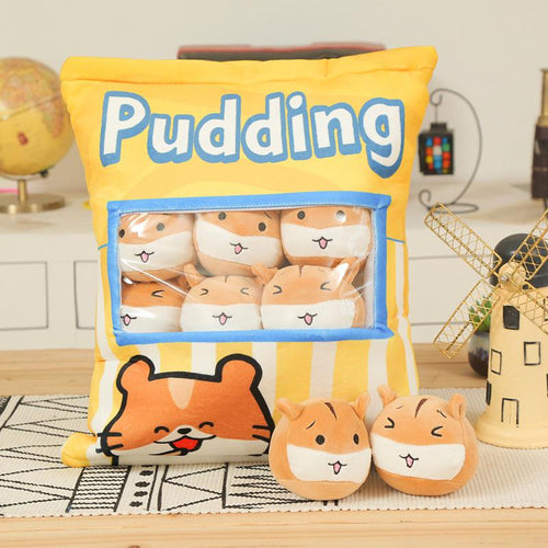UwU Gerbil Cream Pudding Bag Plush (•̀௰•́ )