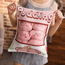 Load image into Gallery viewer, UwU Piggy Pudding Bag Plush (´・(oo)・`)