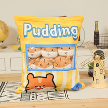 Load image into Gallery viewer, UwU Gerbil Cream Pudding Bag Plush (•̀௰•́ )