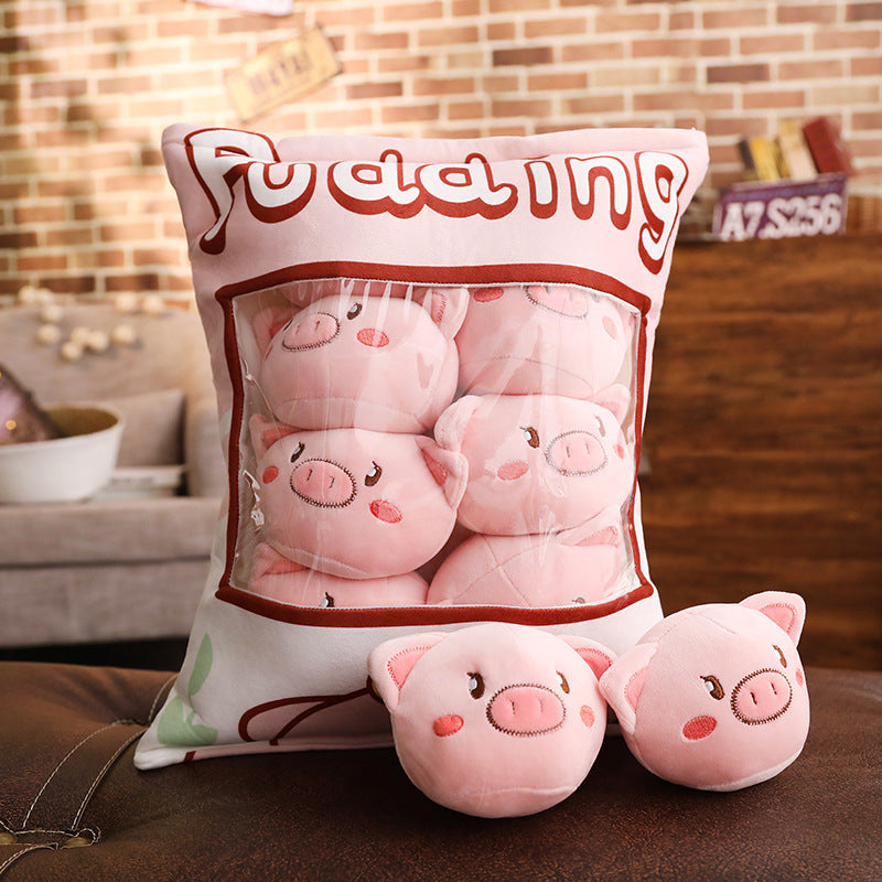 UwU Piggy Pudding Bag Plush (´・(oo)・`)