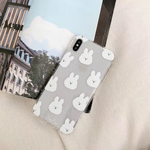 Load image into Gallery viewer, UwU Bunny iPhone Case (๑චᆽච๑)