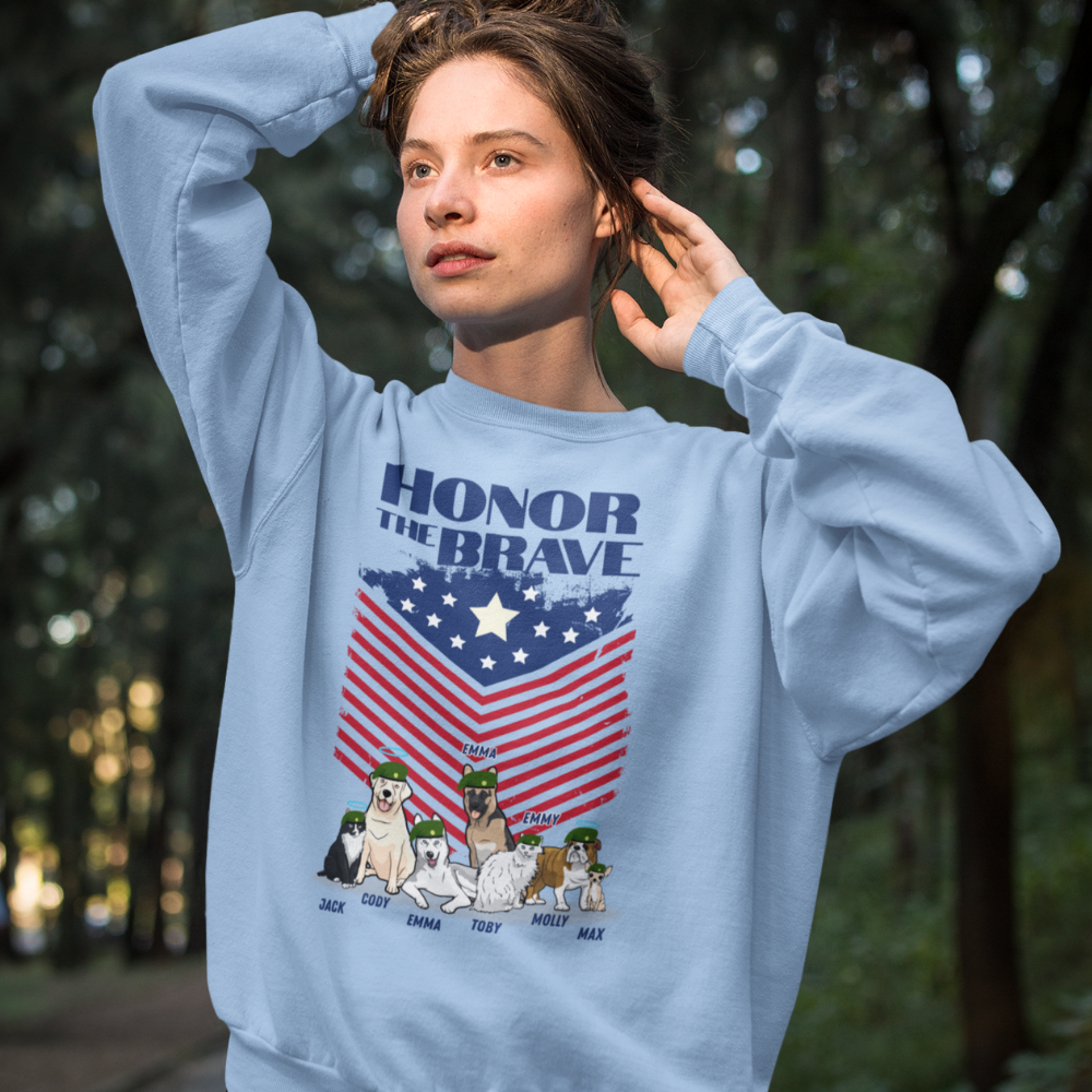 Honor The Brave Personalized Sweatshirt For Pet Lover