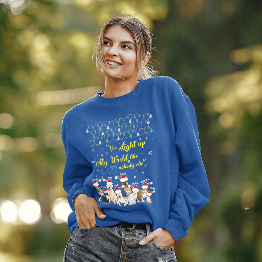 You Light Up My World Sweatshirt For Dog Lover