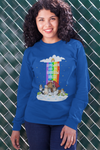 Rainbow Themed Sweatshirt For Dog Lovers