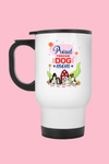 Proud Rescue Dog Mom Personalized Travel Mug For Dog Lovers